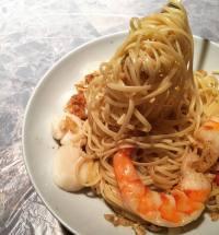 Homecooked Shrimp Pasta